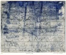 E. Hartwig, Memo BACKPULVER, 06/2018, 2-Farb-Platten Vernis mou und Strichätzung, 16,5 x 21 cm, sign. 2/4