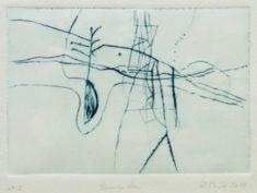 R. Mucke, Samenkorn, 2018, Kaltnadelradierung, 14,5 x 21 cm