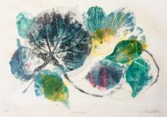 X. Scherenberg, Manglar, 2017, Lithographie und Textura, 28 x 38 cm