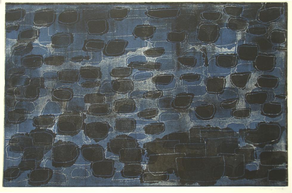 GROSSEREGATTA III, 10/2018, 2-Farbplatten Aquatinta mit Strichätzung hochgedruckt, 32,5 x 49,9 cm, sign. 1/1