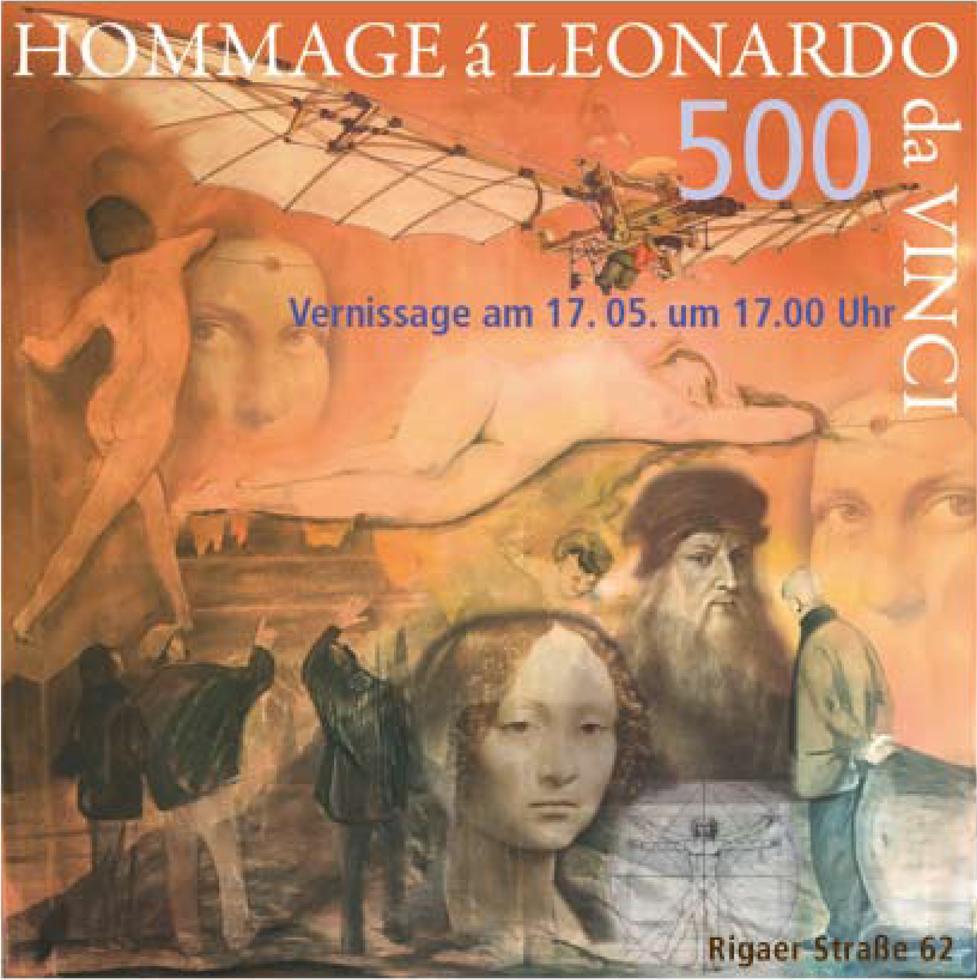 Einladung Hommage á Leonardo da Vinci
