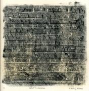 E. Hartwig, SKRIPTTOLEONARDO, 05/2019, Monotypie, 20,7 x 20,7 cm