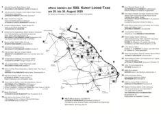 KunstLoose Tage 2020, Karte und Künstler