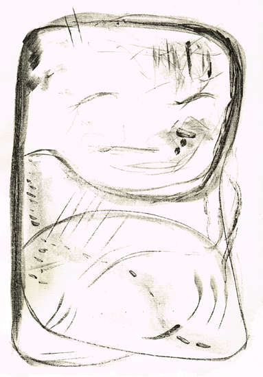 STONE, 08/2019, Kreide-Tusche-Lithographie, 34 x 22,5 cm, sign. 5/7