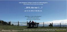 Einladung Jahresendaustellung 2019