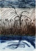 PARADIES, 05/2020, 2-Farb-Kaltnadelradierung, 16 x 11,2 cm, sign. Ie.a.