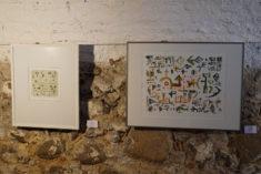 E. Hartwig, Monotypie, und R. Mucke, Aquarell, im Galerie-Cafe