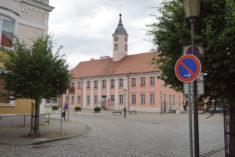 Marktplatz mit Rathaus, Zehdenick, 25.06.2021