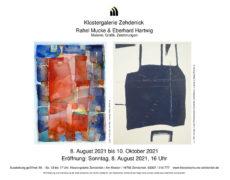 Plakat R. Mucke und E. Hartwig, Ausstellung in der Galerie Kloster Zehdenick