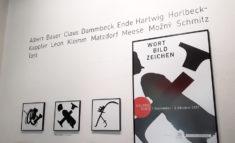 3 Arbeiten von Jörg Schmitz und Plakat in der Galerie Süd, Foto: J. Ende