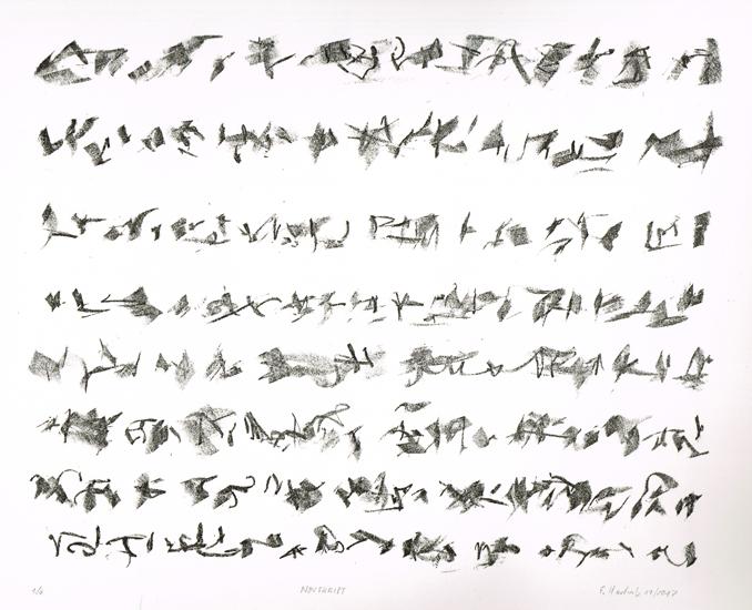 NOVSKRIPT, 11/2017, Kreide-Lithographie, 24,5 x 31 cm, sign 1/6