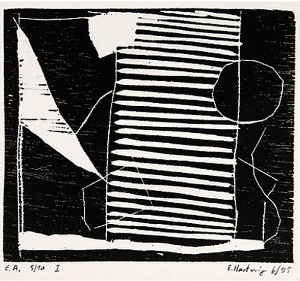 o.T., 6/1995, Holzschnitt, 9,7 x 11,2 cm